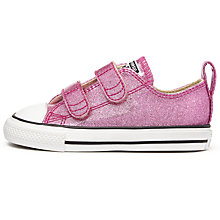 Buy Converse Children's Chuck Taylor All Star Ox Rip-Tape Trainers, Pink Glitter Online at johnlewis.com