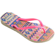 Buy Havaianas Children's Slim Flip Flops, Pink Online at johnlewis.com