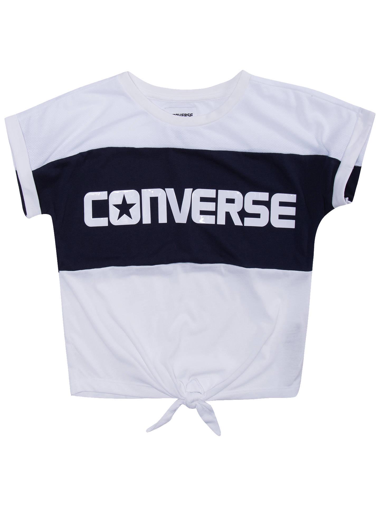 bfe5d8d7dfaa2 Buy Converse Girls  Colour Block Tie Front T-Shirt