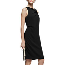 Buy Reiss Aliya Asymmetrical Neck Dress, Black Online at johnlewis.com