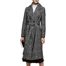 Buy Reiss Chay Houndstooth Wrap Coat, Black/White Online at johnlewis.com