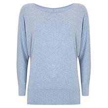 Buy Mint Velvet Marl Batwing Top, Blue Sky Online at johnlewis.com