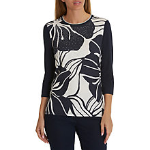 Buy Betty Barclay Embellished Top, Dark Blue/Cream Online at johnlewis.com