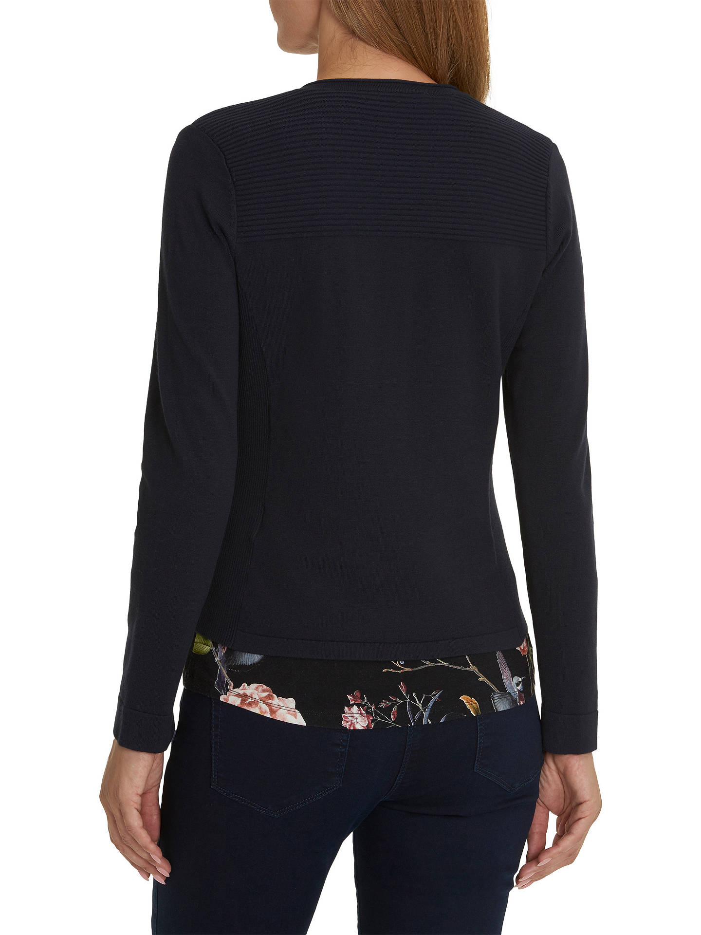 BuyBetty Barclay Quilted Cardigan, Dark Sky, 20 Online at johnlewis.com
