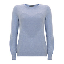 Buy Mint Velvet Ottoman Heart Jumper, Light Blue Online at johnlewis.com