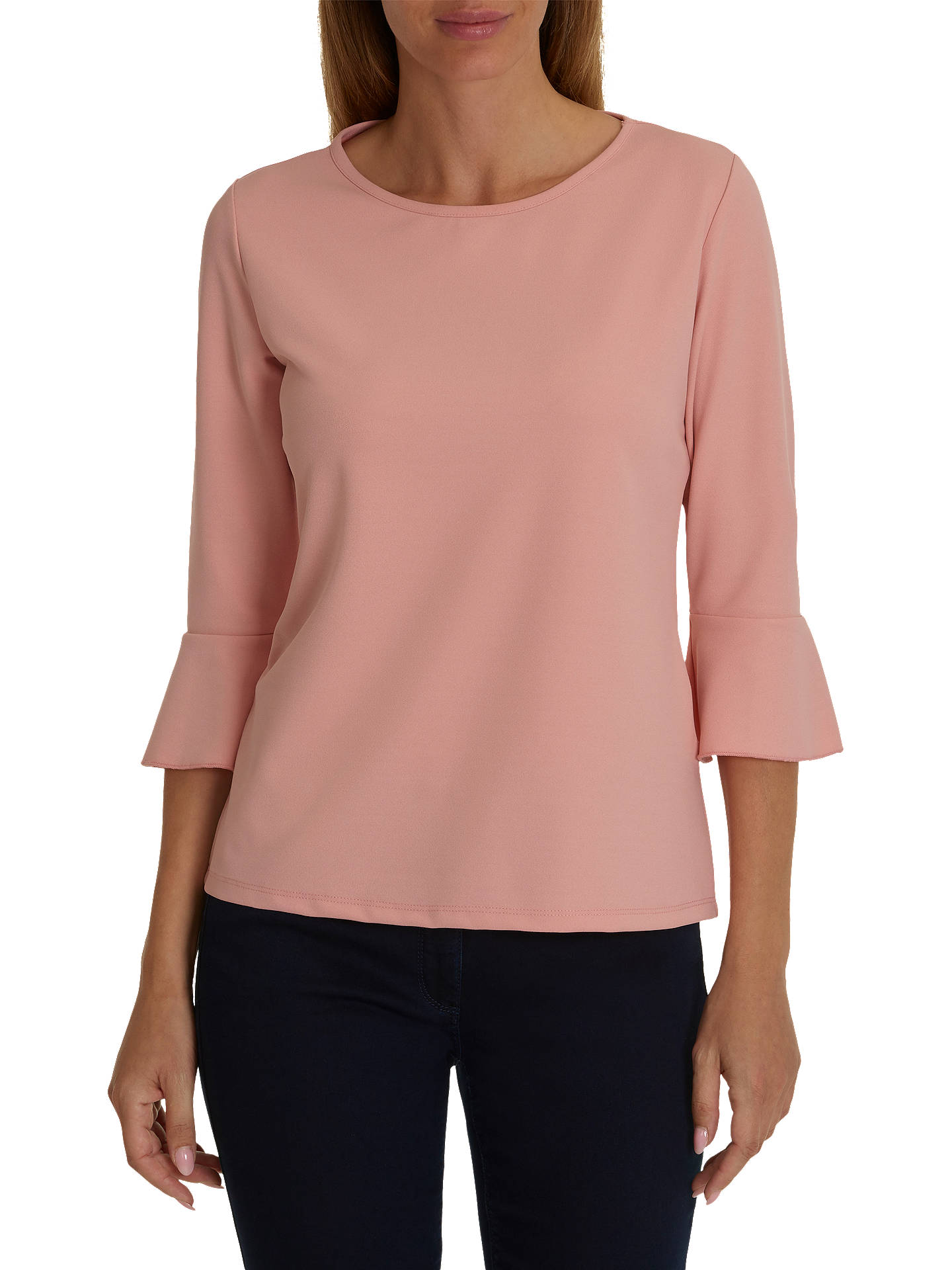 BuyBetty Barclay Jersey Top, Powder Rose, 10 Online at johnlewis.com ... 526167b4bd