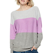 Buy Mint Velvet Blocked Stripe Batwing Jumper, Silver/Granite/Violet Online at johnlewis.com