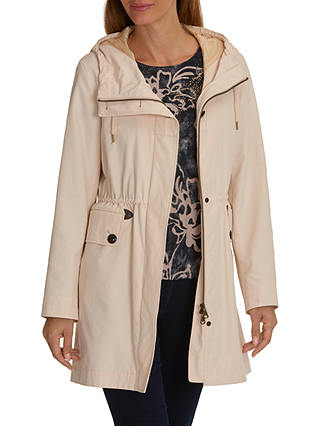 Buy Betty Barclay Crossover Hooded Parka, Tapioca, 10 Online at johnlewis.com