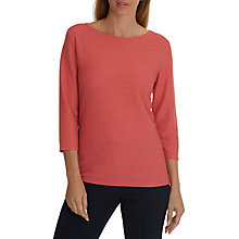Buy Betty Barclay Ribbed Jersey Top, Red Salmon Online at johnlewis.com