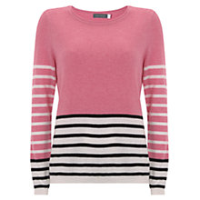 Buy Mint Velvet Mixed Stripe Jumper, Peony/Navy Online at johnlewis.com