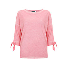 Buy Mint Velvet Batwing Jersey T-Shirt, Pink Online at johnlewis.com