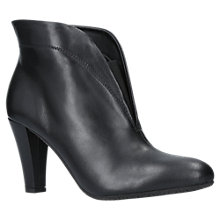 Buy Carvela Comfort Rida Cut Out Ankle Boots, Black Leather Online at johnlewis.com