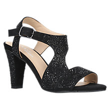 Buy Carvela Comfort Simona Block Heeled Sandals, Black Online at johnlewis.com