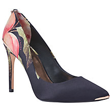 Buy Ted Baker Kawaap 2 Stiletto Heel Court Shoes, Black/Multi Online at johnlewis.com
