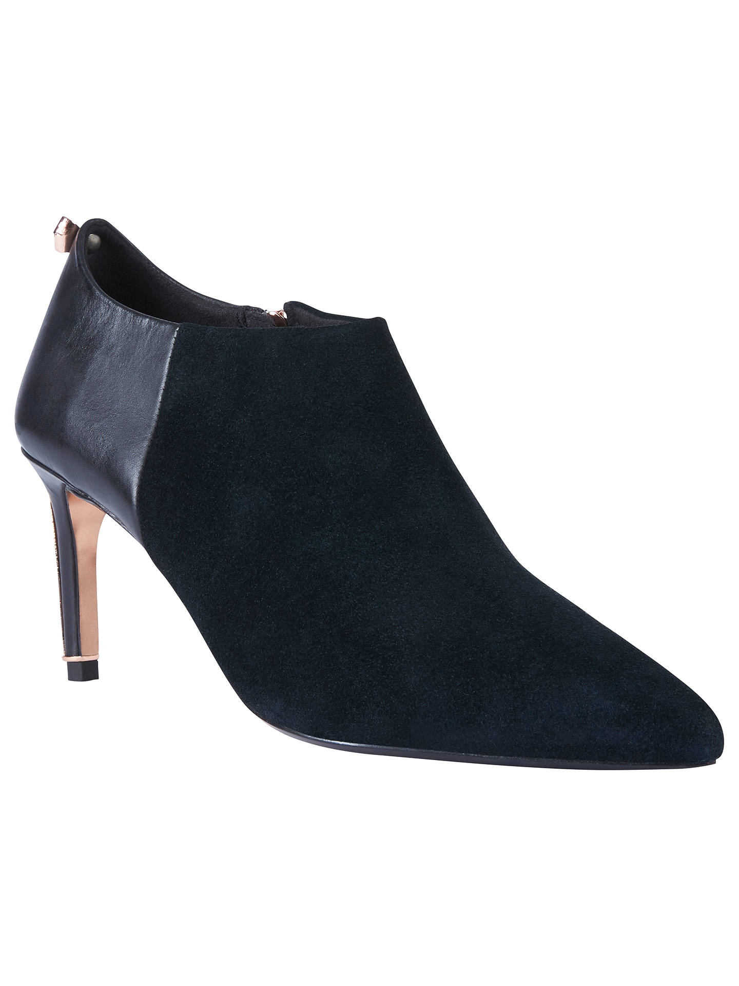 BuyTed Baker Akashers Stiletto Heel Ankle Boots, Black, 4 Online at johnlewis.com