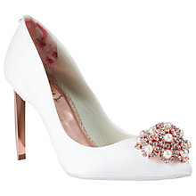 Buy Ted Baker Peetch 2 Embellished Stiletto Heel Court Shoes Online at johnlewis.com