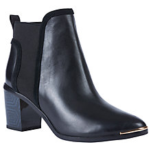 Buy Ted Baker Leihana Block Heel Slip On Ankle Boots, Black Online at johnlewis.com