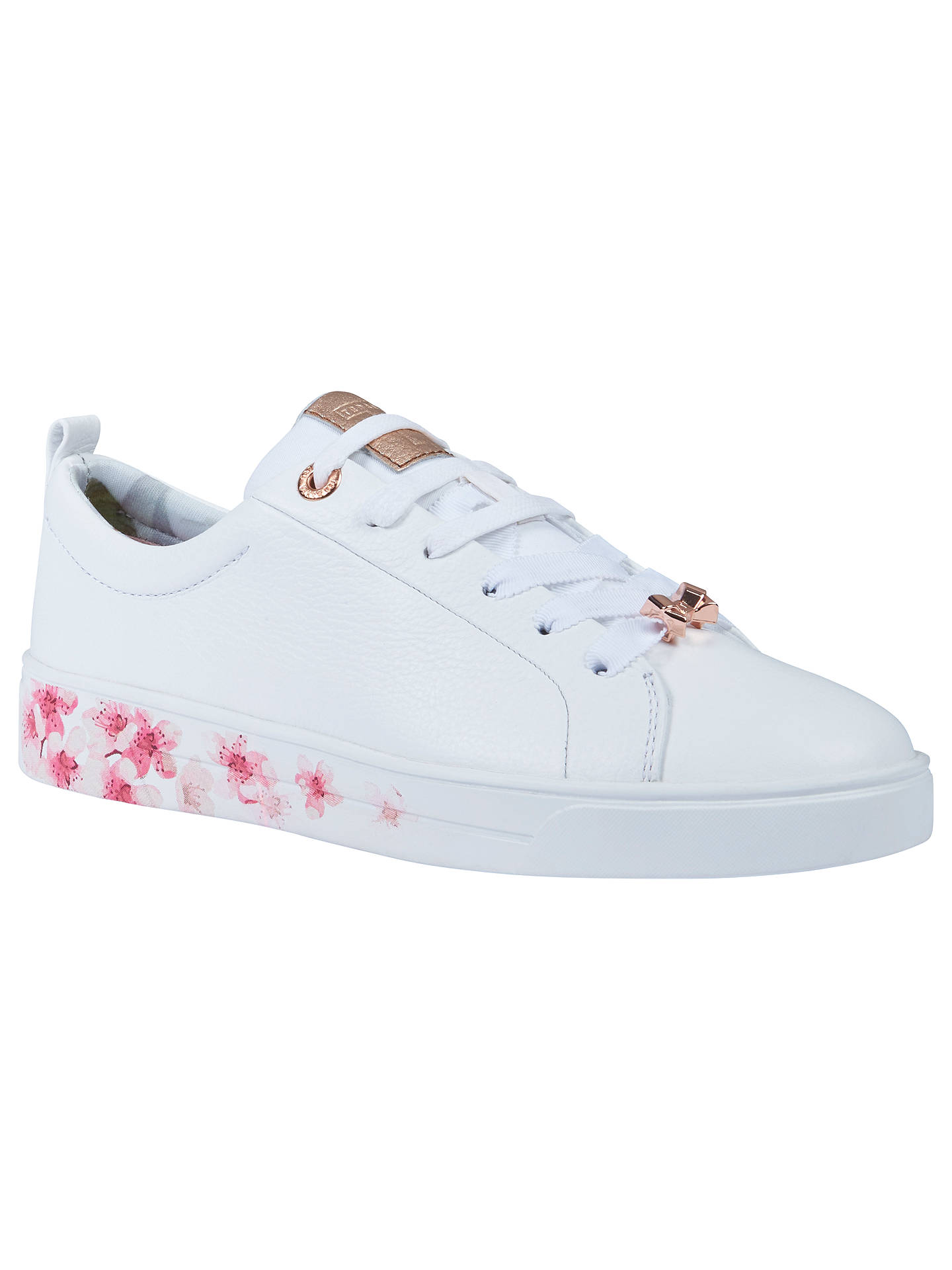 b1c99e0e7 Buy Ted Baker Kelleip Low Top Trainers, White Blossom, 4 Online at  johnlewis.