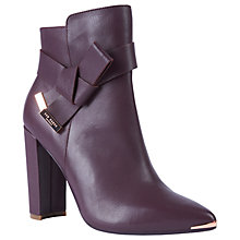 Buy Ted Baker Remadi High Block Heel Ankle Boots Online at johnlewis.com