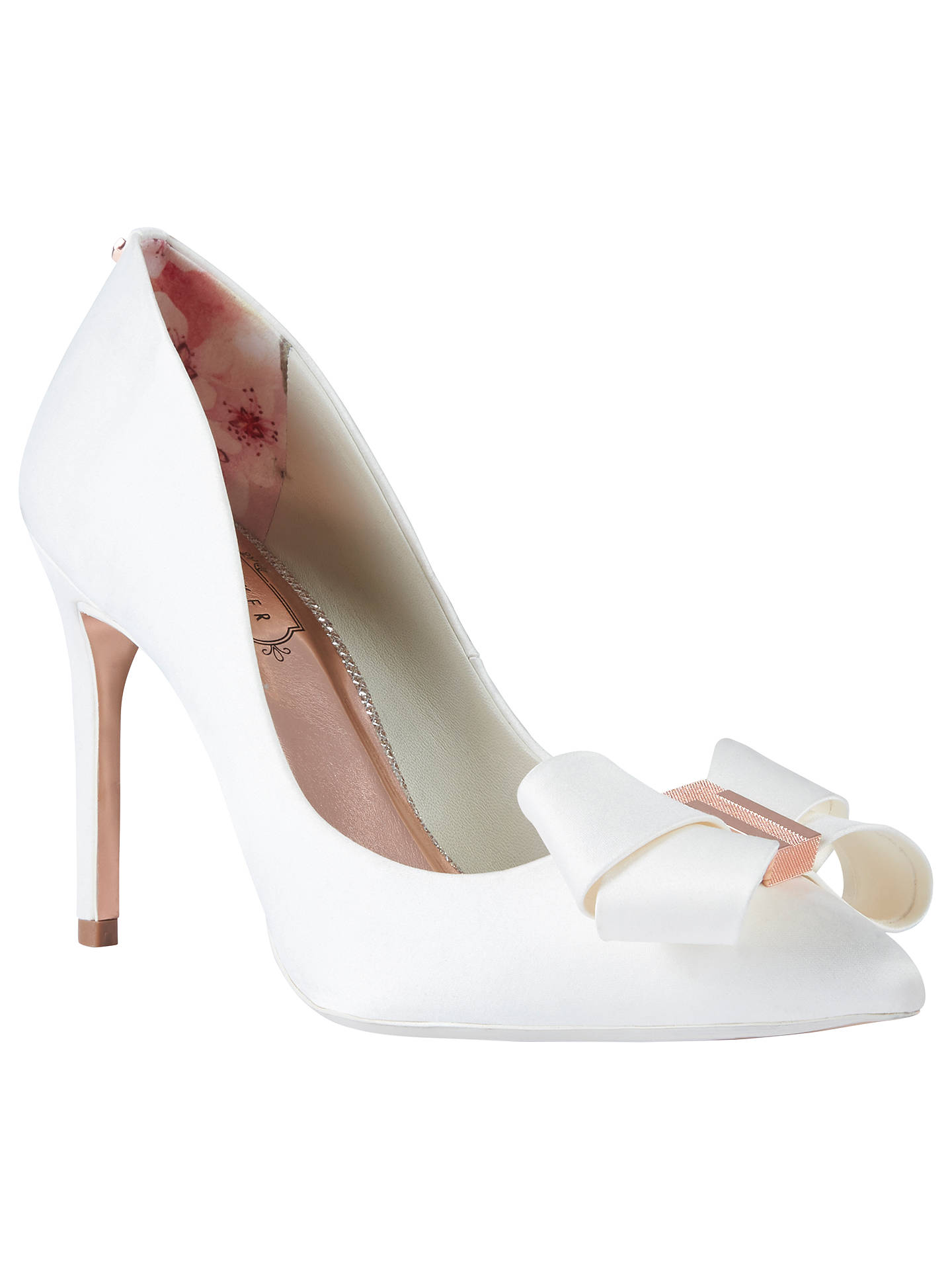 67b039c1599bb Ted Baker Skalett Stiletto Heel Bow Court Shoes at John Lewis   Partners