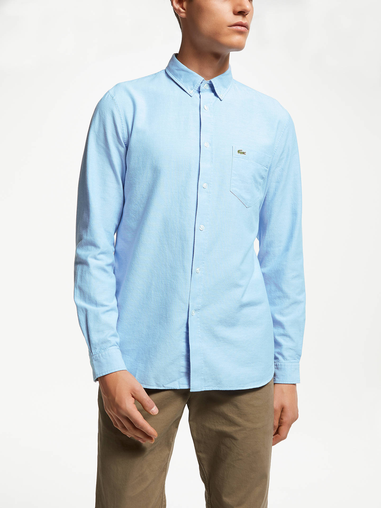 f07a2af20 Lacoste Long Sleeve Oxford Shirt at John Lewis   Partners