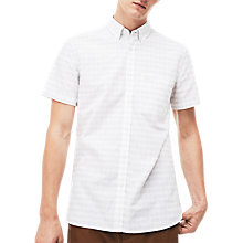 Buy Lacoste Short Sleeve Broken Stripe Shirt, Vanilla Online at johnlewis.com