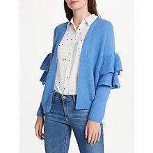 Buy Essentiel Antwerp Palladia Ruffled Cardigan, Cornflower Blue Online at johnlewis.com