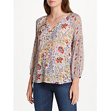 Buy Velvet by Graham & Spencer Kandee Long Sleeve Printed Top Online at johnlewis.com