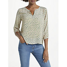 Buy Pyrus Grace Printed Silk Blouse, Animal Khaki Pink Online at johnlewis.com