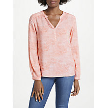 Buy Pyrus Lizzie Blouse, Dots Coral Online at johnlewis.com