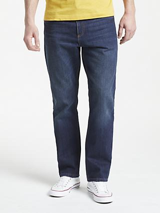 John Lewis & Partners Straight Fit Indigo Denim Jeans