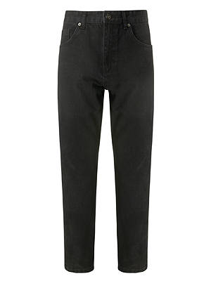 BuyJohn Lewis & Partners Straight Fit Black Denim Jeans, Rinse Wash, 32S Online at johnlewis.com