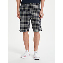 Buy John Lewis Miller Check Shorts, Navy Online at johnlewis.com