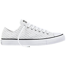 Buy Converse Chuck Taylor Textured Trainers, White Online at johnlewis.com