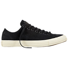 Buy Converse Chuck Taylor Suede Trainers, Black Online at johnlewis.com