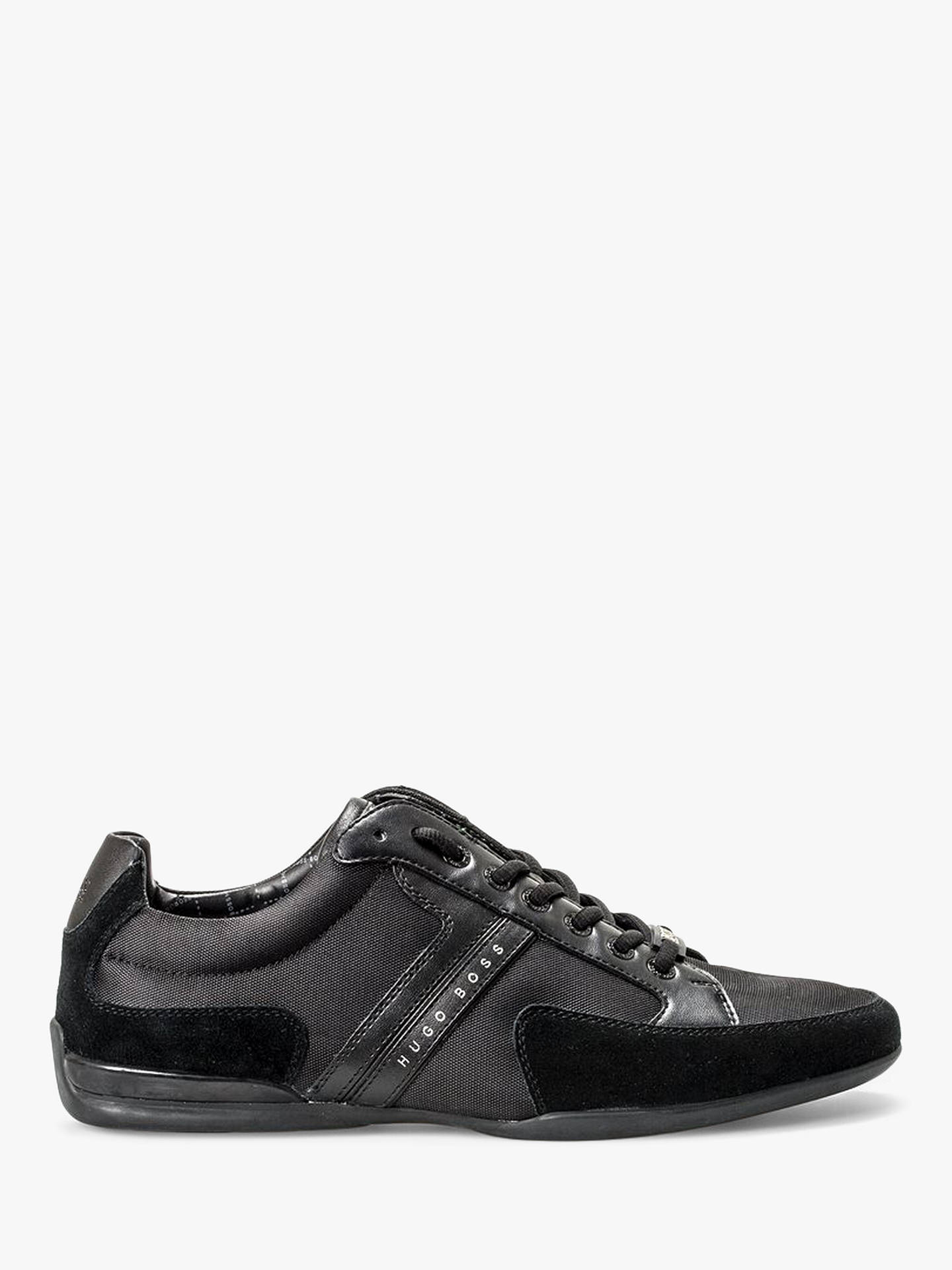 BuyHUGO BOSS Spacit Trainers, Black, 7 Online at johnlewis.com