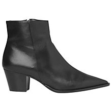 Buy Whistles Moxon Block Heel Ankle Boots, Black Online at johnlewis.com