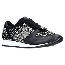 Buy Carvela Lake Lace Up Trainers, Black Online at johnlewis.com
