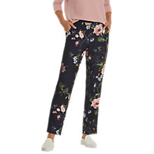 Buy Betty Barclay Floral Print Trousers, Dark Blue/Rose Online at johnlewis.com