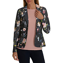 Buy Betty Barclay Textured Floral Print Jacket, Dark Blue/Rose Online at johnlewis.com