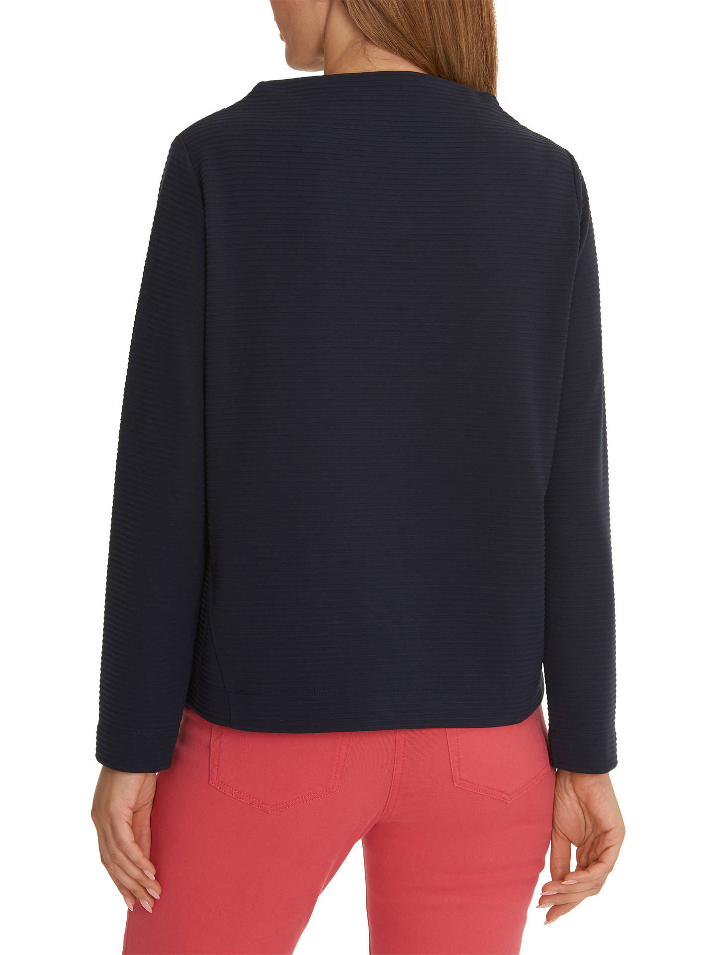 Buy Betty Barclay Ribbed Jersey Top, Dark Sky, 10 Online at johnlewis.com