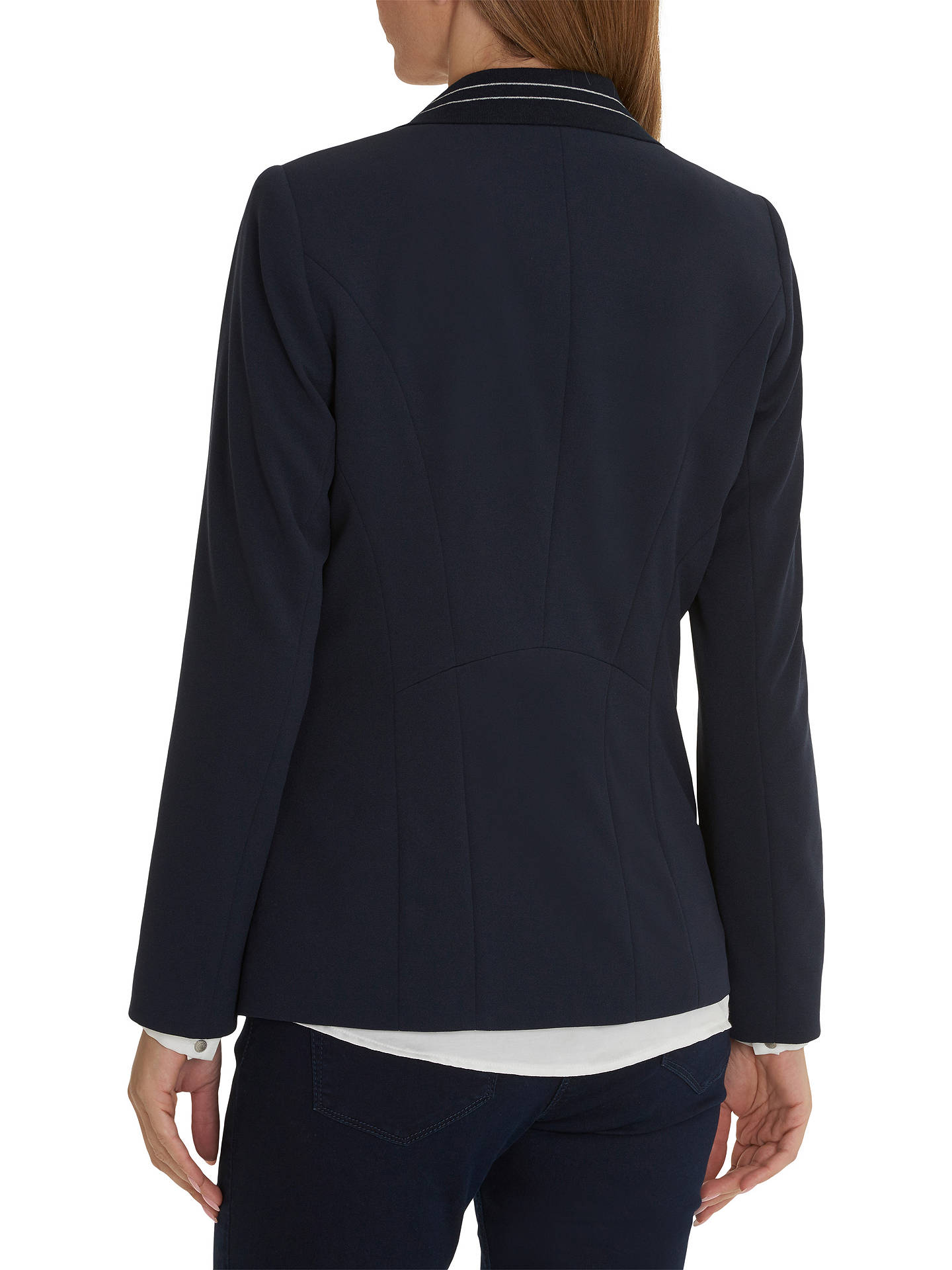 BuyBetty Barclay Sporty Tailored Blazer, Dark Sky, 10 Online at johnlewis.com