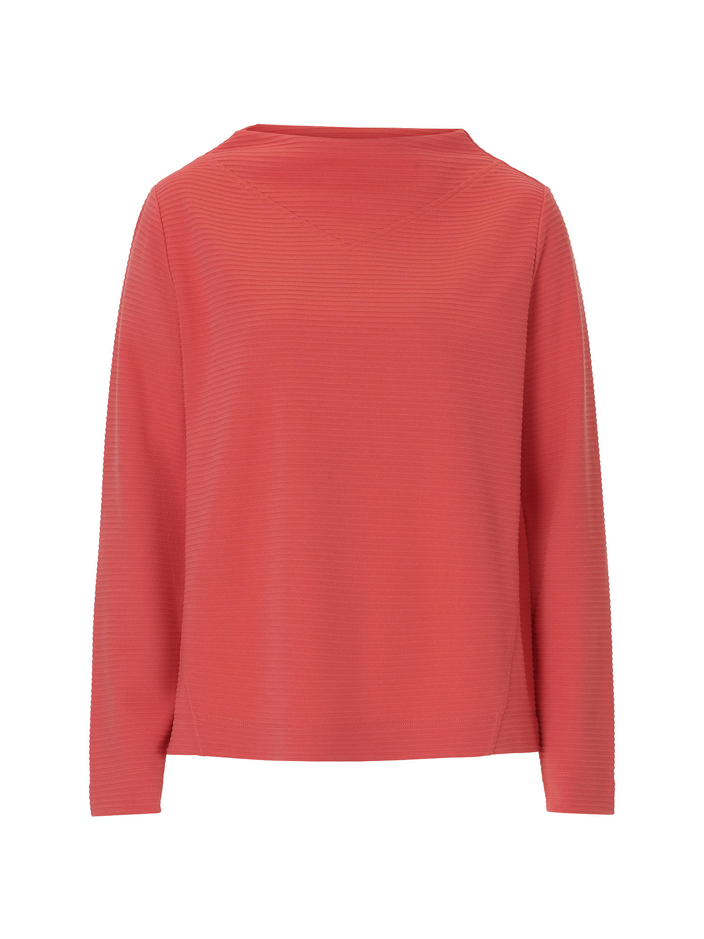 BuyBetty Barclay Ribbed Jersey Top, Red Salmon, 16 Online at johnlewis.com