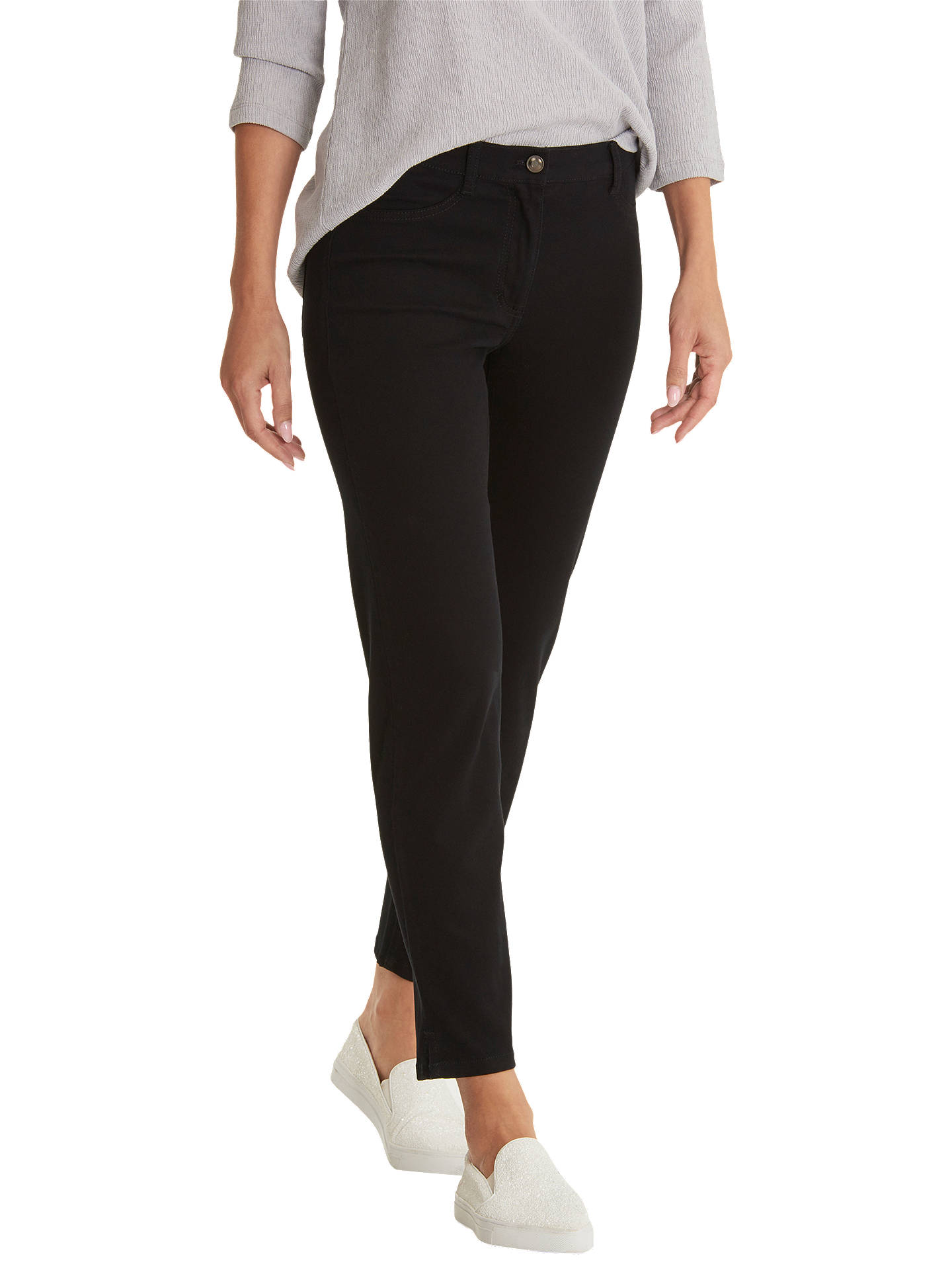 BuyBetty Barclay Slim Fit Jeans, Black, 16 Online at johnlewis.com