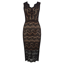 Buy Oasis Bodycon Lace Dress, Black Online at johnlewis.com