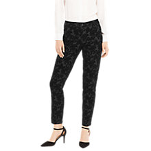 Buy Oasis Jade Flocked Skinny Jeans, Black Online at johnlewis.com
