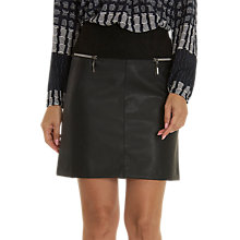 Buy Betty Barclay Faux Leather Skirt, Black Online at johnlewis.com