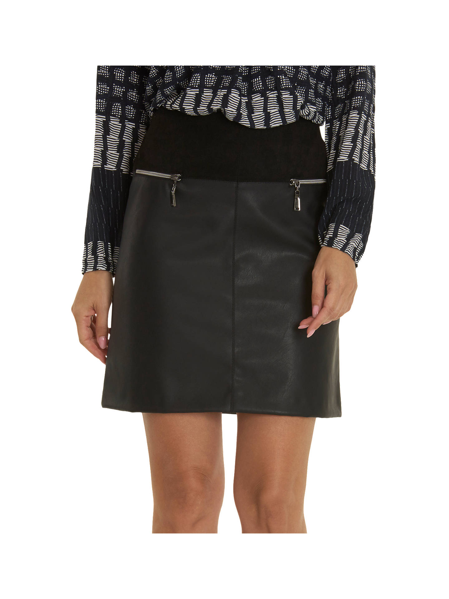 BuyBetty Barclay Faux Leather Skirt, Black, 10 Online at johnlewis.com