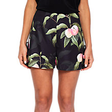 Buy Ted Baker Peach Blossom Print Shorts, Black Online at johnlewis.com