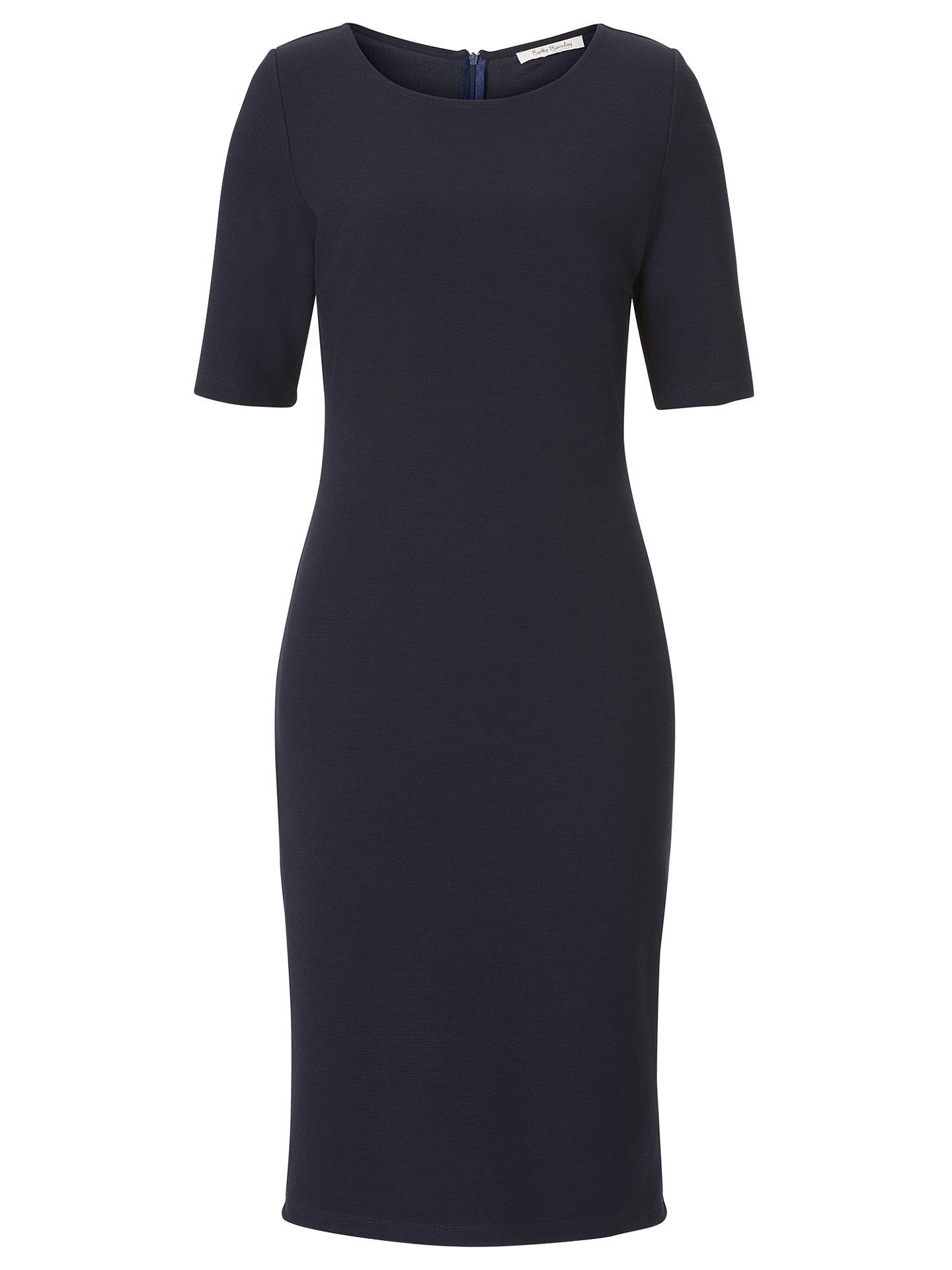 BuyBetty Barclay Short Sleeved Dress, Dark Sky, 18 Online at johnlewis.com